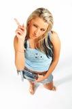 性感白肤金发的表达式的设计 库存图片
