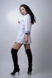 年轻性感的亚裔护士 图库摄影