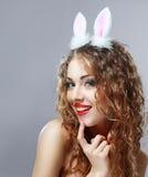 性感的兔宝宝女孩 库存图片