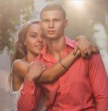 性感的典雅的夫妇时尚照片  库存图片