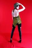 性感的军事女孩 免版税图库摄影