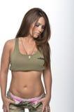 性感的军队女孩 库存照片