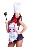 性感的厨师 免版税库存照片
