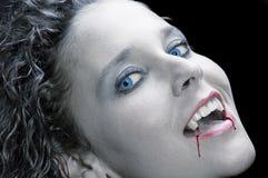 性感的吸血鬼 免版税库存图片