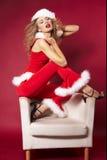 性感的圣诞老人帮手 免版税库存图片