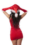 性感的圣诞老人辅助工 免版税图库摄影