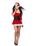 性感的圣诞老人 免版税库存图片