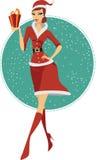 性感的圣诞老人 免版税库存照片