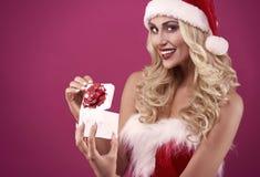 性感的圣诞老人 图库摄影
