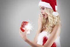 性感的圣诞老人 库存图片