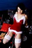 性感的圣诞老人 库存照片