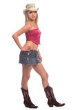 性感的女牛仔 免版税库存照片