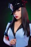 性感的女警。 免版税图库摄影