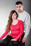 性感的妇女和英俊的人 肉欲的夫妇 免版税库存照片