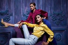 性感的妇女大礼服汇集bussines集会时尚样式 免版税图库摄影