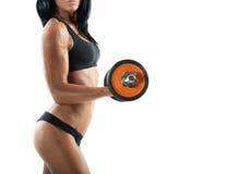 性感的妇女锻炼 库存图片