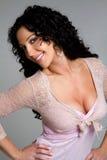 性感的微笑的妇女 免版税图库摄影