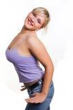性感的微笑的成功的妇女 库存图片