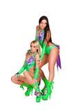 性感的戈戈舞的舞蹈家全长照片  免版税库存照片