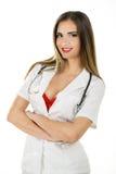性感的护士画象  免版税库存照片