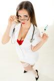 性感的护士 库存图片