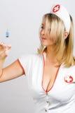 性感的护士 免版税库存图片