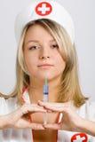 性感的护士 免版税库存照片