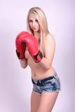 性感的拳击手 免版税库存照片