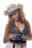 性感的摄影师 免版税图库摄影