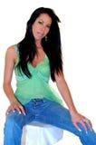 性感的时装模特儿 免版税库存照片
