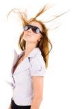 性感的时髦的太阳镜妇女 库存图片