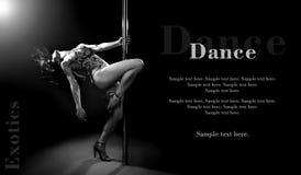 性感的杆舞蹈妇女。 图库摄影