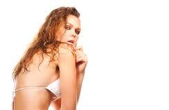 性感的湿妇女 图库摄影