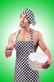 性感的男性厨师 库存照片