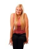 性感的白肤金发的妇女 免版税库存照片