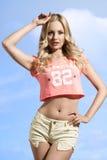 性感的短裤妇女 免版税库存图片
