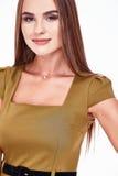 性感的美好的妇女时尚魅力模型画象  库存图片