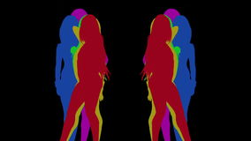 性感的舞蹈家阴影,剪影 影视素材