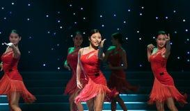 性感的舞蹈拉丁舞蹈 图库摄影