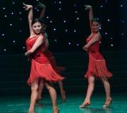 性感的舞蹈拉丁舞蹈 库存图片