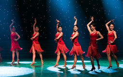 性感的舞蹈拉丁舞蹈 免版税库存照片