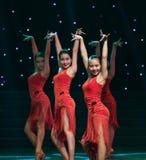 性感的舞蹈拉丁舞蹈 免版税图库摄影