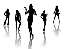 性感的舞蹈演员 免版税库存图片