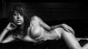 性感的色情美丽的妇女 免版税库存图片