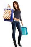 性感的购物妇女年轻人 免版税库存照片
