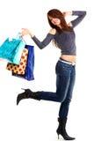 性感的购物妇女年轻人 免版税图库摄影