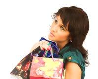 性感的购物妇女 免版税库存图片