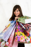 性感的购物妇女 免版税库存照片