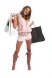 性感的购物 免版税库存图片