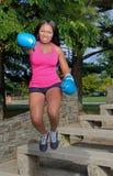 性感的非裔美国人的妇女-健身 免版税库存图片